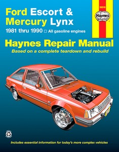 Boek: Ford Escort / Mercury Lynx - All gasoline models (1981-1990) (USA) - Haynes Repair Manual