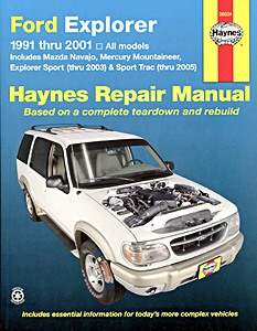 Livre : Mazda Navajo / Ford Explorer / Mercury Mountaineer (USA) (1991-2001) - Haynes Repair Manual