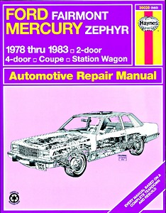 Boek: Mercury Zephyr / Ford Fairmont (1978-1983) - Haynes Repair Manual