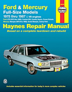 Boek: Mercury / Ford Full-size Models - V8 engines (1975-1987) - Haynes Repair Manual