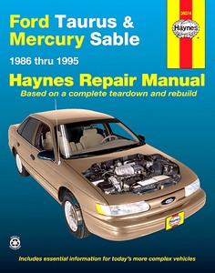 Boek: Mercury Sable / Ford Taurus (1986-1995) - Haynes Repair Manual