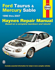 Boek: Mercury Sable / Ford Taurus (1996-2007) - Haynes Repair Manual