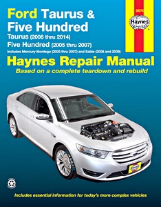 Boek: Mercury Montego (2005-2007), Sable (2008-2009) / Ford Taurus (2008-2014), Five Hundred (2005-2007) - Haynes Repair Manual