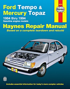 Boek: Mercury Topaz / Ford Tempo - Gasoline engine models (1984-1994) (USA) - Haynes Repair Manual