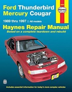 Boek: Mercury Cougar / Ford Thunderbird - All models (1989-1997) - Haynes Repair Manual