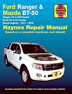 Livre : Mazda BT-50 / Ford Ranger - Diesel engines (2011-2018) - Haynes Repair Manual