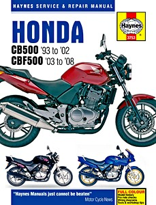 Livre : Honda CB 500 (1993-2002) & CBF 500 (2003-2008) - Haynes Service and Repair Manual