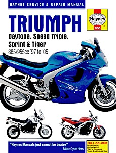 Livre : Triumph Daytona, Speed Triple, Sprint & Tiger Fuel-injected Triples - 885 / 955 cc (1997-2005) - Haynes Service and Repair Manual