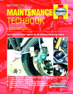 Livre : Haynes Motorcycle Maintenance TechBook (2nd Edition) - Servicing and minor repairs for all motorcycles and scooters