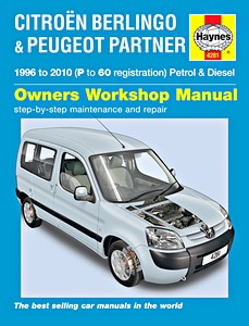 Boek: Citroën Berlingo / Peugeot Partner - Petrol & Diesel (1996-2010) - Haynes Service and Repair Manual