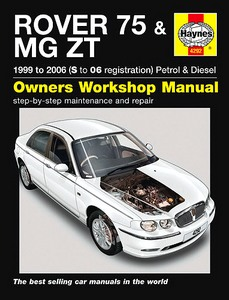 Boek: Rover 75 & MG ZT - Petrol & Diesel (Feb 1999 - 2006) - Haynes Service and Repair Manual