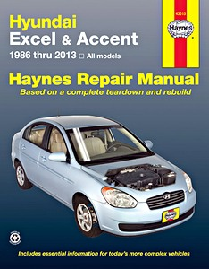 Boek: Hyundai Excel & Accent - All models (1986-2013) (USA) - Haynes Repair Manual