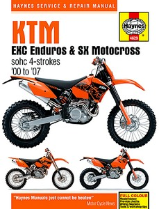 Livre : KTM EXC Enduros & SX Motocross - sohc 4-strokes (2000-2007) - Haynes Service and Repair Manual