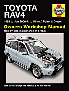 Livre : Toyota RAV4 - Petrol & Diesel (1994 - Jan 2006) - Haynes Service and Repair Manual
