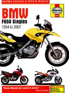 Livre : BMW F 650 Singles (1994-2007) - Haynes Service and Repair Manual