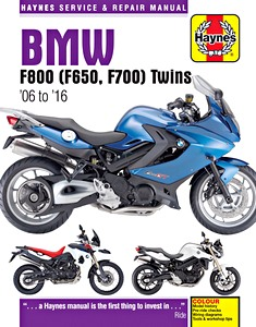 Livre : BMW F 650, F 700 & F 800 Twins (2006-2016) - Haynes Service and Repair Manual
