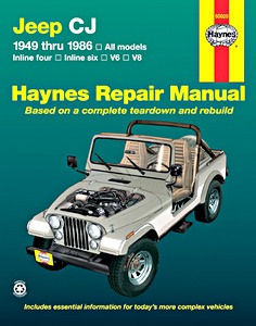 Livre : Jeep CJ (1949-1986) - Inline four, inline six, V6, V8 - Haynes Repair Manual