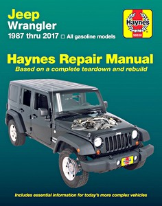 Livre : Jeep Wrangler (1987-2017) - All gasoline models - Haynes Repair Manual