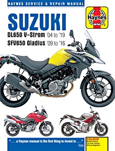 Livre : Suzuki DL 650 V-Strom (2004-2019) / SFV 650 Gladius (2009-2016) - Haynes Service and Repair Manual
