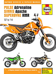 Livre : Pulse / Pioneer Adrenaline, Sinnis Apache, Superbyke RMR (2007-2014) - Haynes Service and Repair Manual