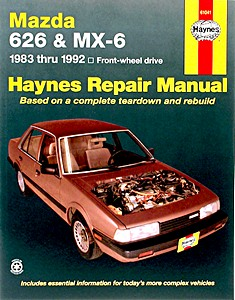 Boek: Mazda 626 and MX-6 - Front-wheel drive (1983-1992) (USA) - Haynes Repair Manual