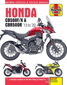 Livre : Honda CB 500F/X & CBR 500R (2013-2015) - Haynes Service and Repair Manual