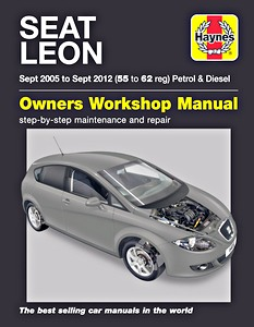 Boek: Seat Leon - Petrol & Diesel (Sept 2005 - Sept 2012) - Haynes Service and Repair Manual