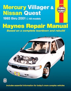 Boek: Mercury Villager / Nissan Quest (1993-2001) - Haynes Repair Manual