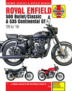 Livre : Royal Enfield 500 Bullet / Classic & 535 Continental GT (2009-2018) - Haynes Service and Repair Manual