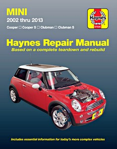 Boek: Mini - Cooper, Cooper S, Clubman, Clubman S (2002-2013) (USA) - Haynes Repair Manual