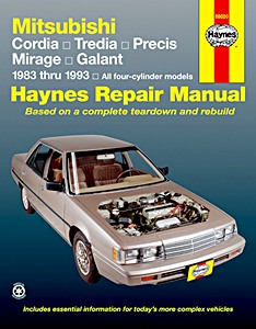 Boek: Mitsubishi Cordia, Tredia, Precis, Mirage, Galant - All four-cylinder models (1983-1993) (USA) - Haynes Repair Manual