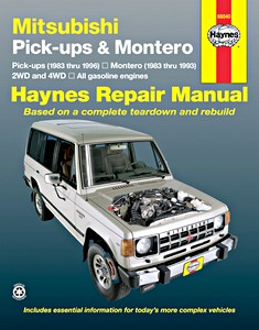 Livre : Mitsubishi Pick-ups (1983-1996) & Montero (1983-1993) (USA) - All gasoline engines - Haynes Repair Manual