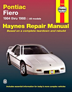 Boek: Pontiac Fiero - All models (1984-1988) - Haynes Repair Manual