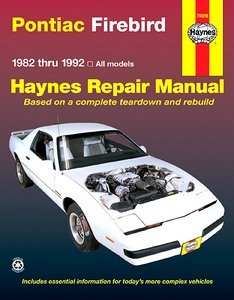 Boek: Pontiac Firebird - All models (1982-1992) - Haynes Repair Manual