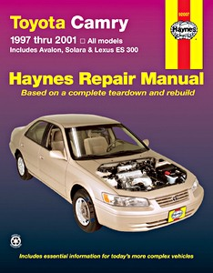 Boek: Toyota Camry, Avalon, Solara / Lexus ES 300 (1997-2001) (USA) - Haynes Repair Manual