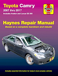 Boek: Toyota Camry and Avalon / Lexus ES 350 (2007-2015) (USA) - Haynes Repair Manual