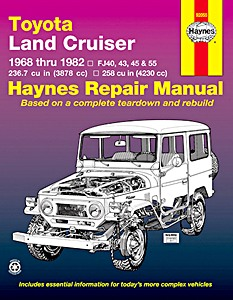 Livre : Toyota Land Cruiser - Series FJ40, FJ43, FJ45 & FJ55 (1968-1982) (USA) - Haynes Repair Manual