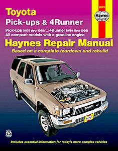 Livre : Toyota Pick-ups & 4Runner - Gasoline engines (1979-1995) (USA) - Haynes Repair Manual