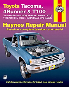 Livre : Toyota Tacoma (1995-2004), 4Runner (1996-2002) & T100 (1993-1998) (USA) - Haynes Repair Manual