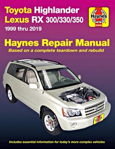 Livre : Toyota Highlander (2001-2019) / Lexus RX 300, RX330, RX 350 (1999-2019) (USA) - Haynes Repair Manual