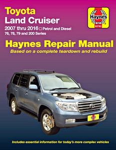Livre : Toyota Land Cruiser - 76, 78, 79 and 200 Series - Petrol and Diesel (2007-2016) (AUS) - Haynes Repair Manual