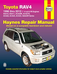 Livre : Toyota RAV4 - 4-cylinder & V6 engines (1996-2012) (AUS) - Haynes Repair Manual