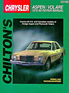 Boek: Plymouth Volare / Dodge Aspen (1976-1980) - Chilton Repair Manual