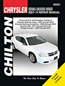 Boek: Chrysler Sebring & 200 / Dodge Avenger (2007-2014) - Chilton Repair Manual