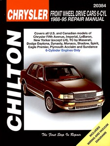 Boek: Chrysler / Dodge / Eagle / Plymouth Front Wheel Drive Cars - 6 Cylinder Engines (1988-1995) - Chilton Repair Manual