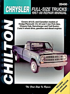 Livre : Plymouth / Dodge Full-Size Trucks - gasoline and diesel engines (1967-1988) - Chilton Repair Manual