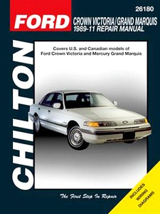 Boek: Mercury Grand Marquis / Ford Crown Victoria (1989-2011) - Chilton Repair Manual
