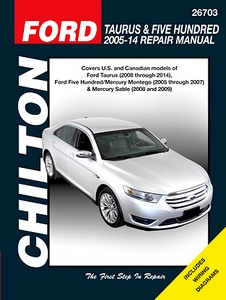 Boek: Mercury Montego (2005-2007), Sable (2008-2009) / Ford Taurus (2008-2014), Five Hundred (2005-2007) - Chilton Repair Manual