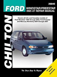 Boek: Ford Windstar - All models (1995-2007) - Chilton Repair Manual
