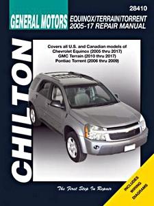 Livre : Chevrolet Equinox (2005-2017) / GMC Terrain (2010-2017) / Pontiac Torrent (2006-2009) - Chilton Repair Manual